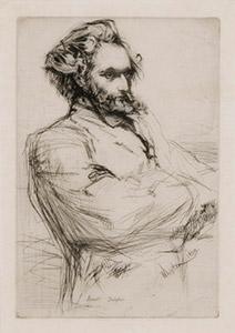 Portrait of Drouet James Whistler