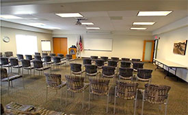 photo of large breakout room at Shah Center